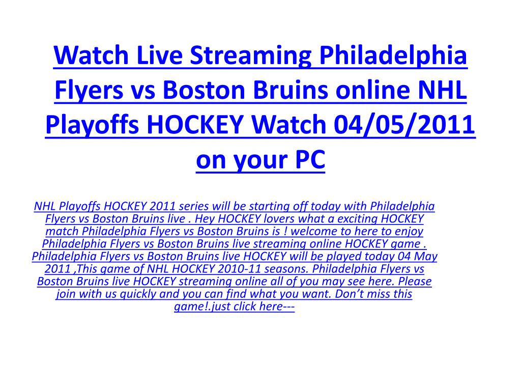 Watch Live Streaming Philadelphia Flyers