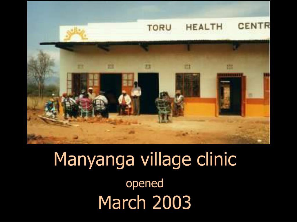 Manyanga village clinic