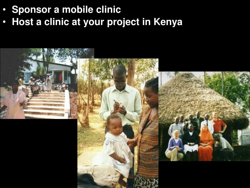 Sponsor a mobile clinic