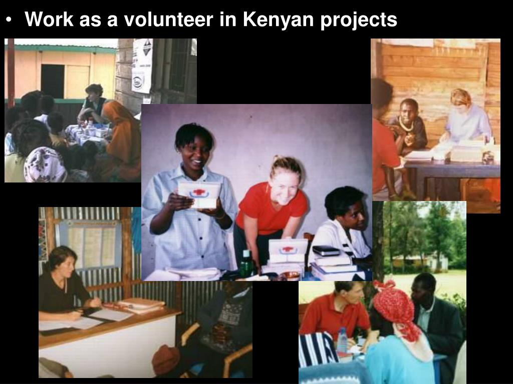 Work as a volunteer in Kenyan projects