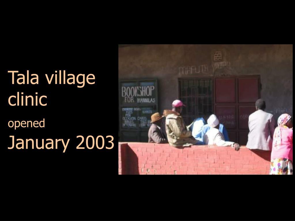 Tala village clinic