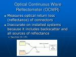 optical continuous wave reflectometer ocwr
