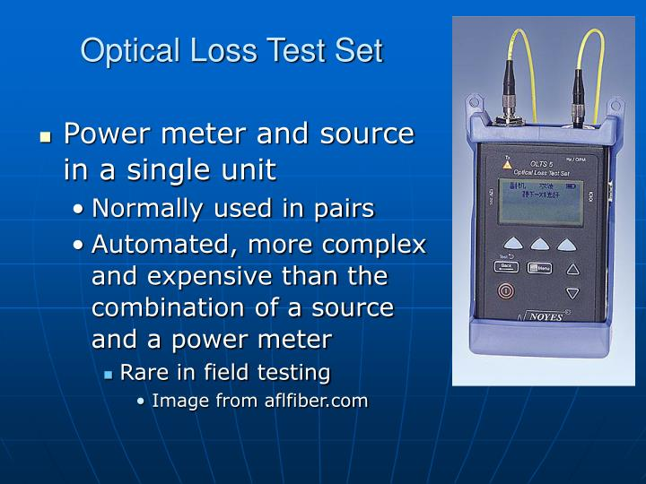 Optical Loss Test Set