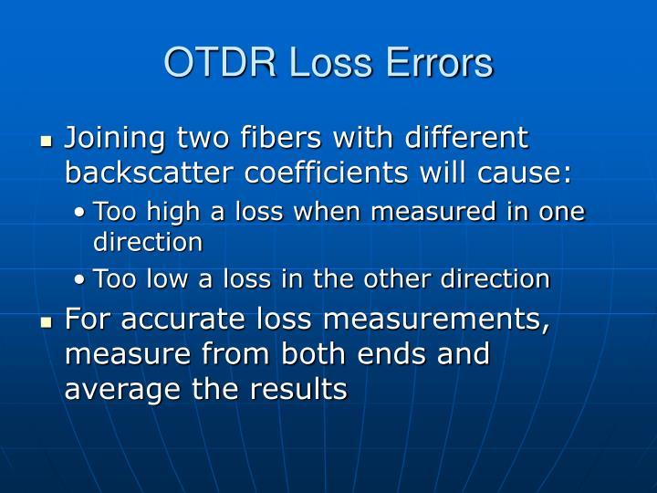 OTDR Loss Errors