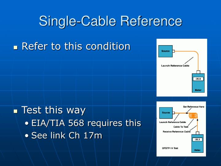 Single-Cable Reference