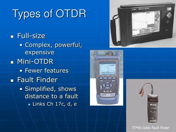 Types of OTDR