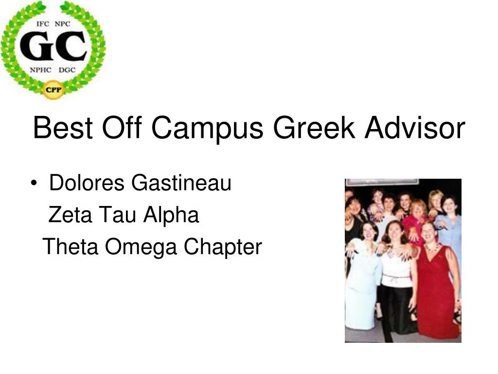Best Off Campus Greek Advisor