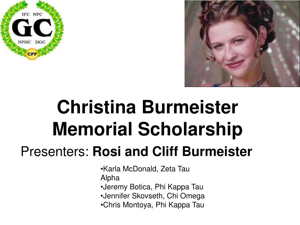 Christina Burmeister Memorial Scholarship