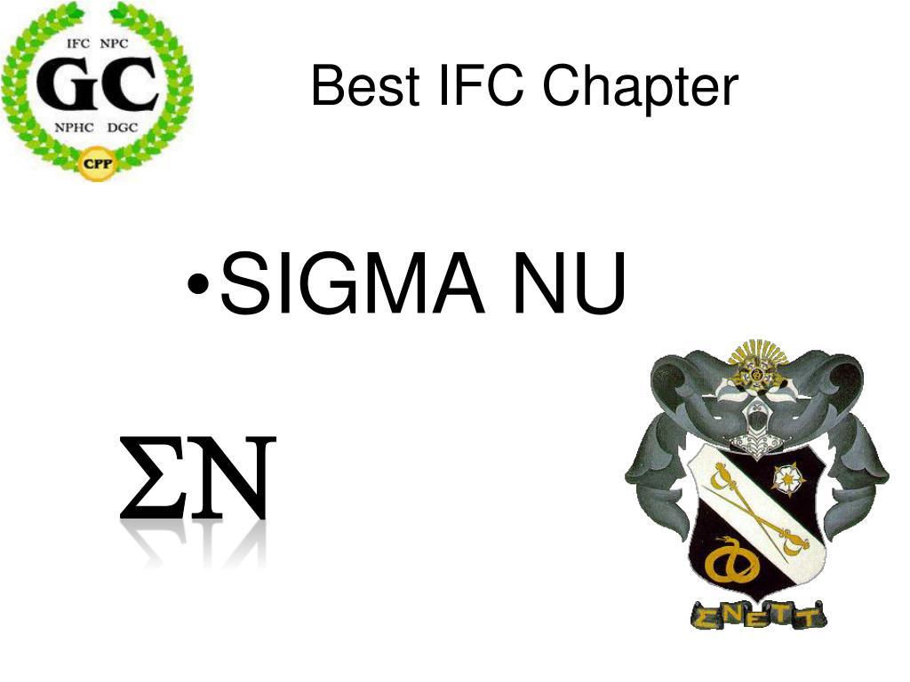 Best IFC Chapter