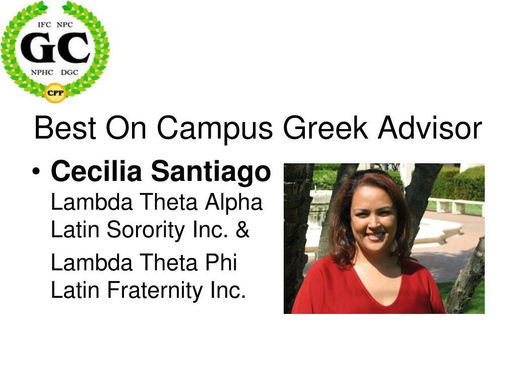 Best On Campus Greek Advisor