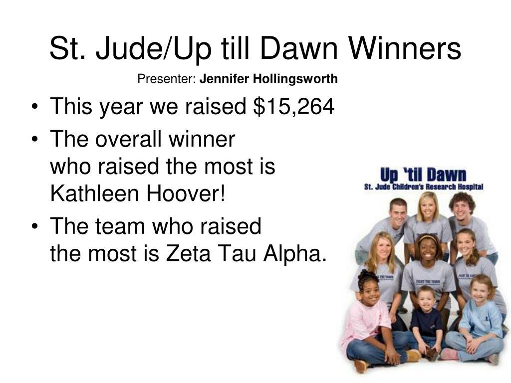 St. Jude/Up till Dawn Winners
