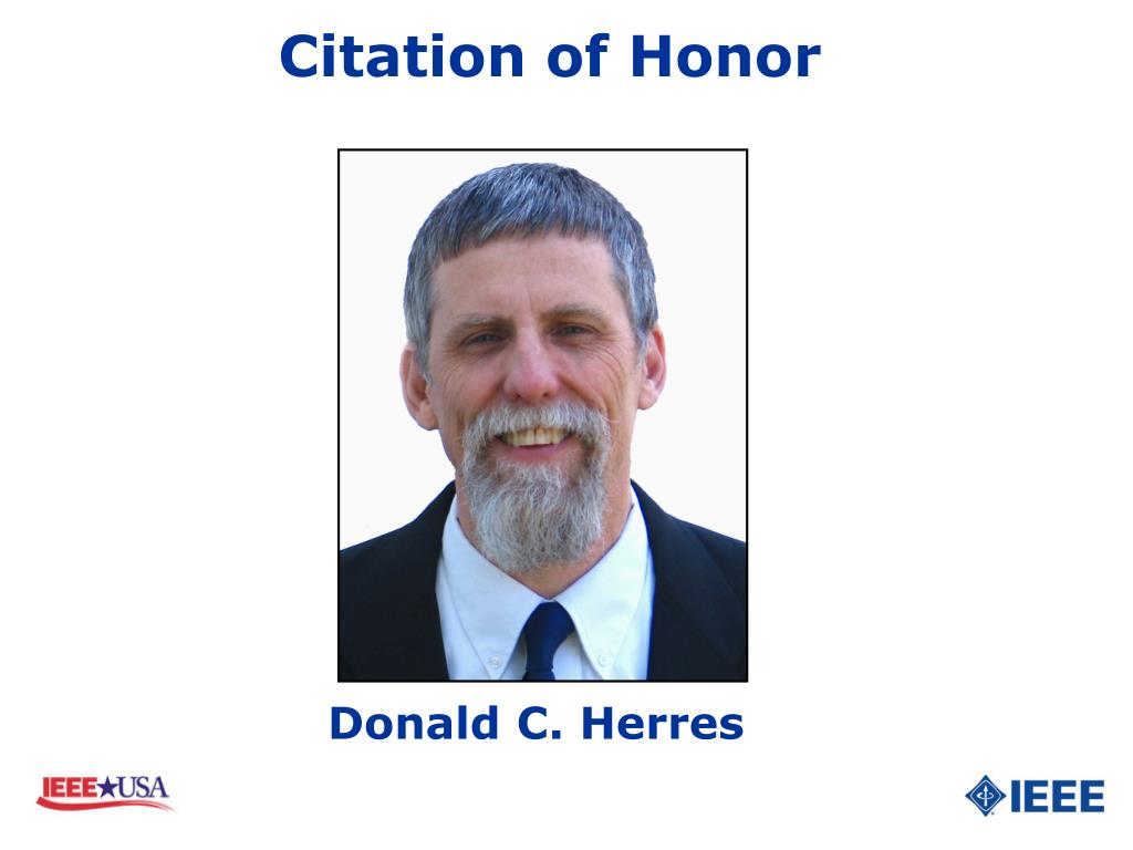 Citation of Honor