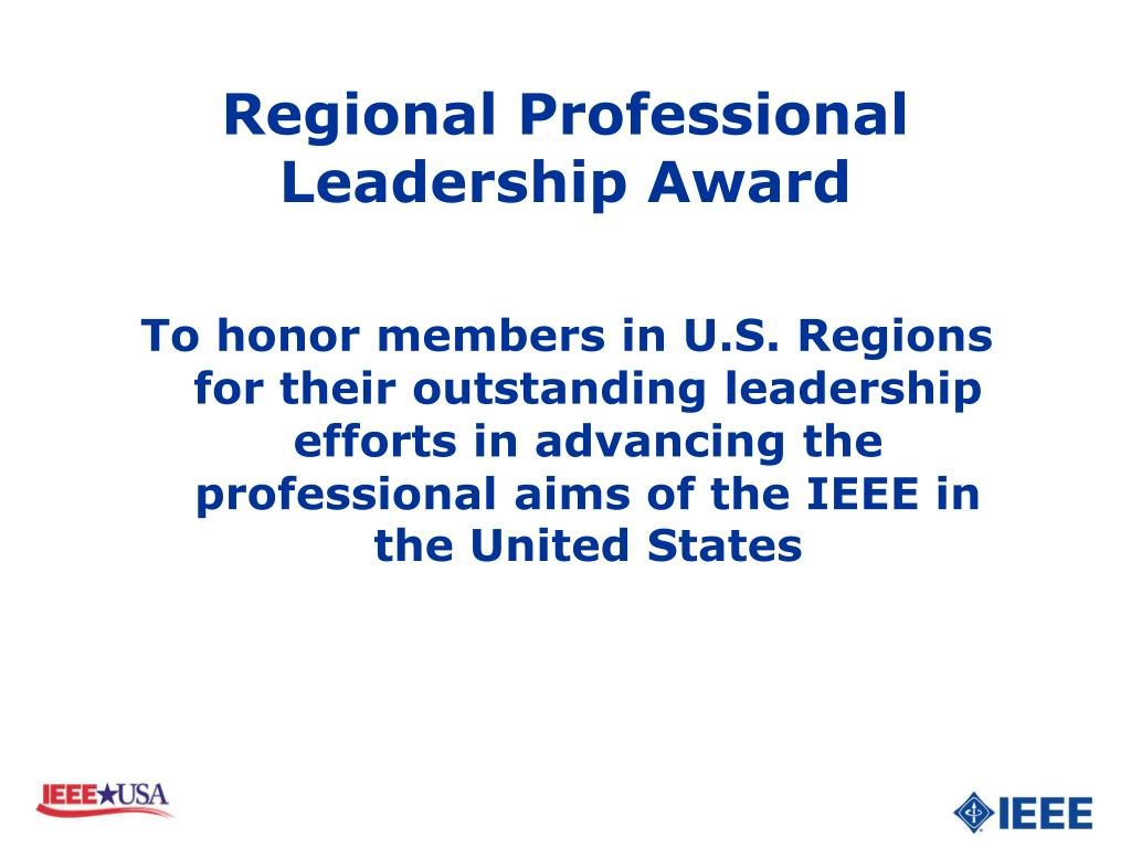 Regional Professional Leadership Award