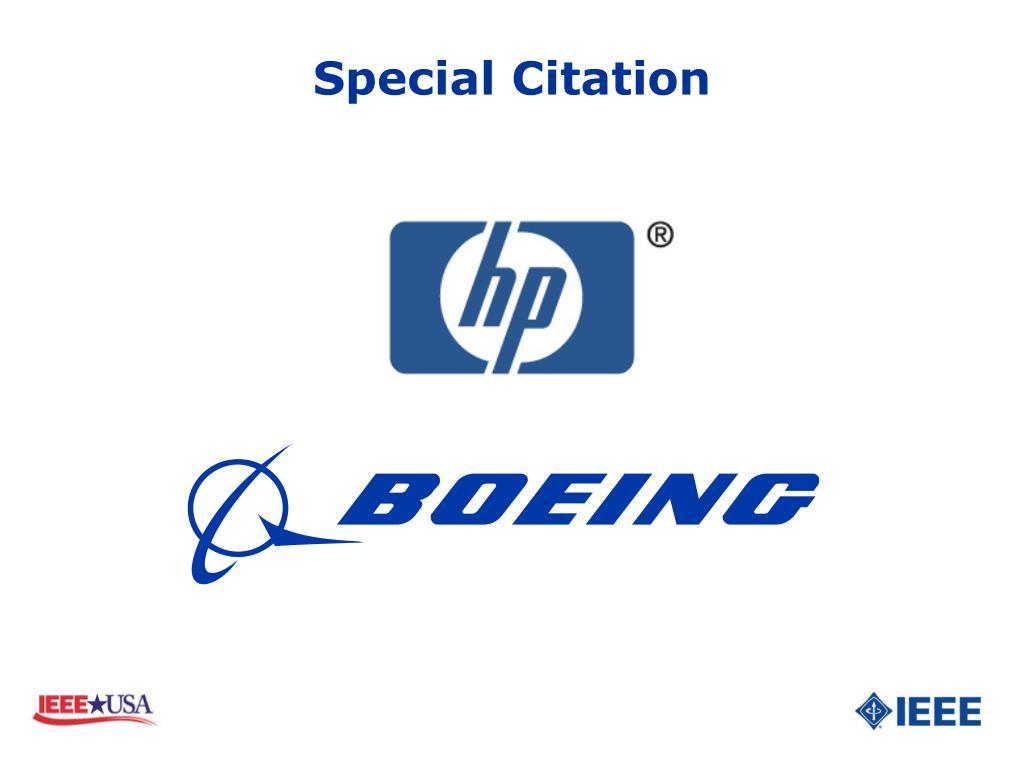 Special Citation