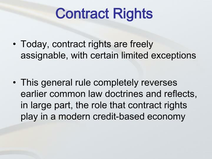 Contract Rights