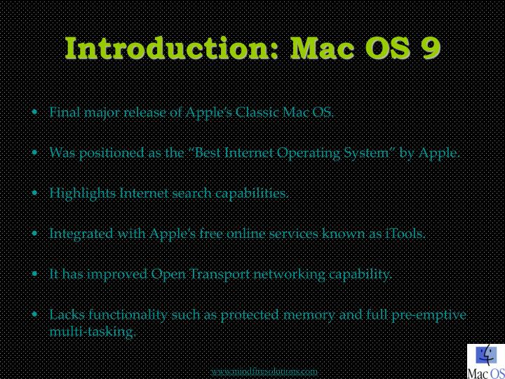 Introduction mac os 9