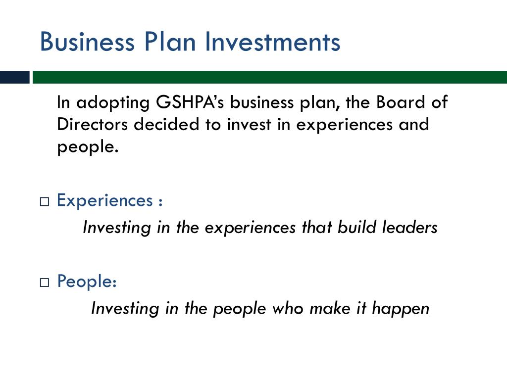 Business Plan Investments