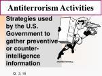 antiterrorism activities