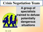 crisis negotiation team