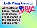 left wing groups