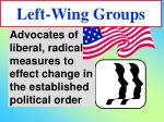 left wing groups23