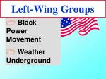 left wing groups26