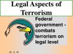 legal aspects of terrorism