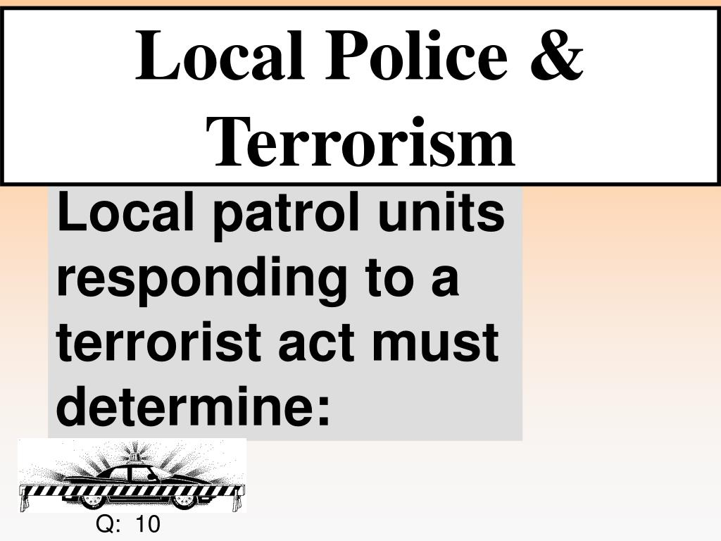 Local Police & Terrorism