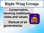 right wing groups
