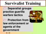 survivalist training
