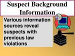 suspect background information74