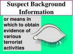 suspect background information76