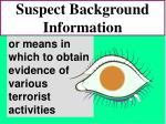 suspect background information77