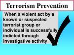 terrorism prevention41