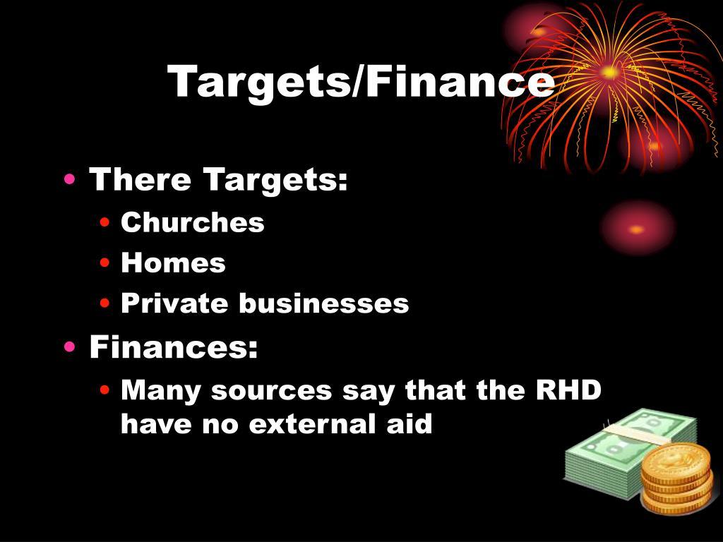 Targets/Finance