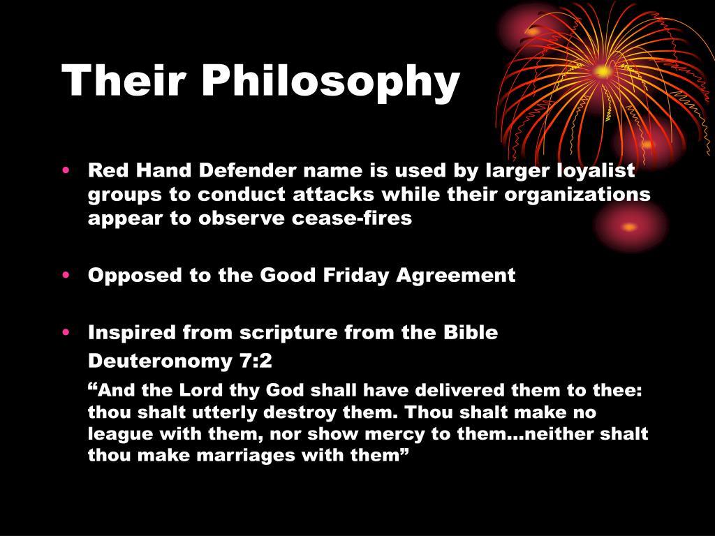 Their Philosophy