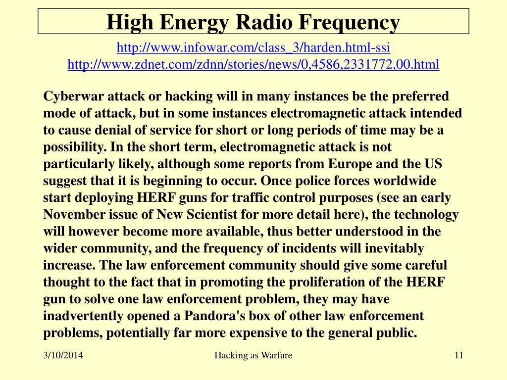 High Energy Radio Frequency