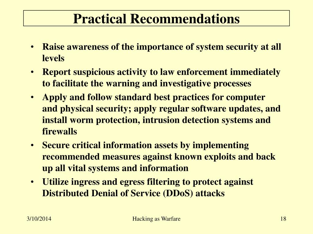 Practical Recommendations