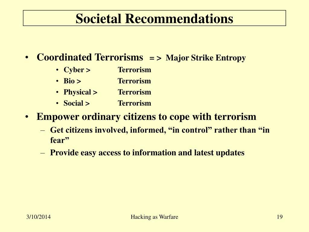 Societal Recommendations