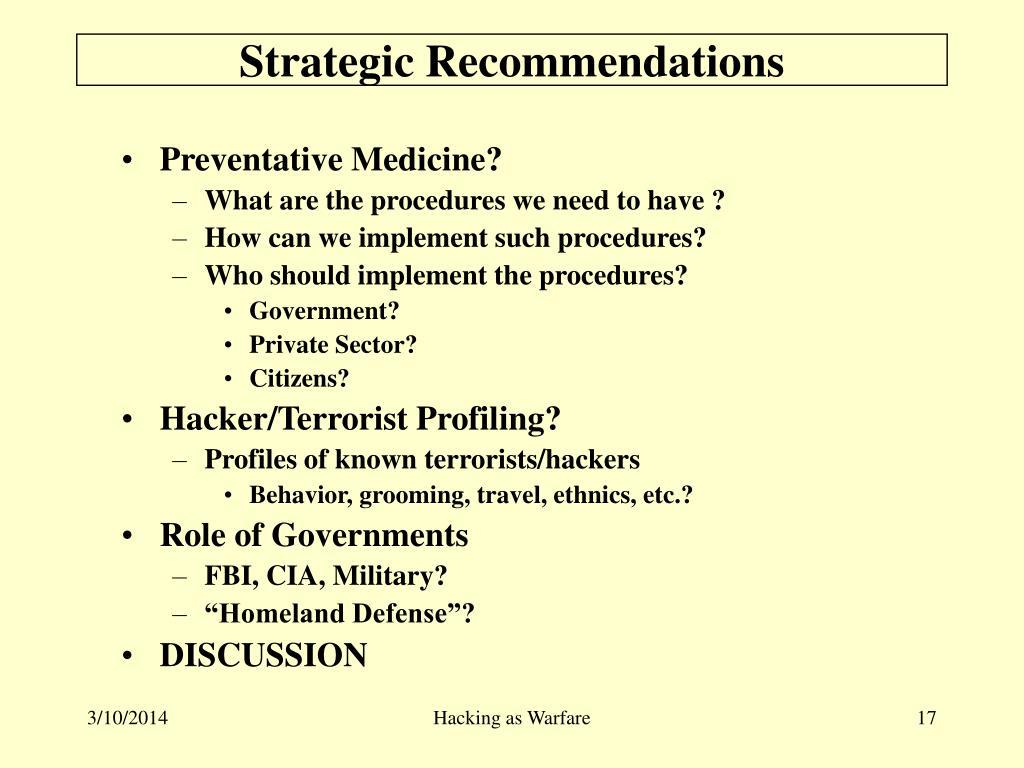 Strategic Recommendations
