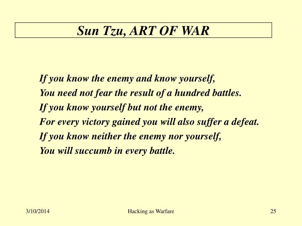 Sun Tzu, ART OF WAR