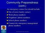 community preparedness cont10