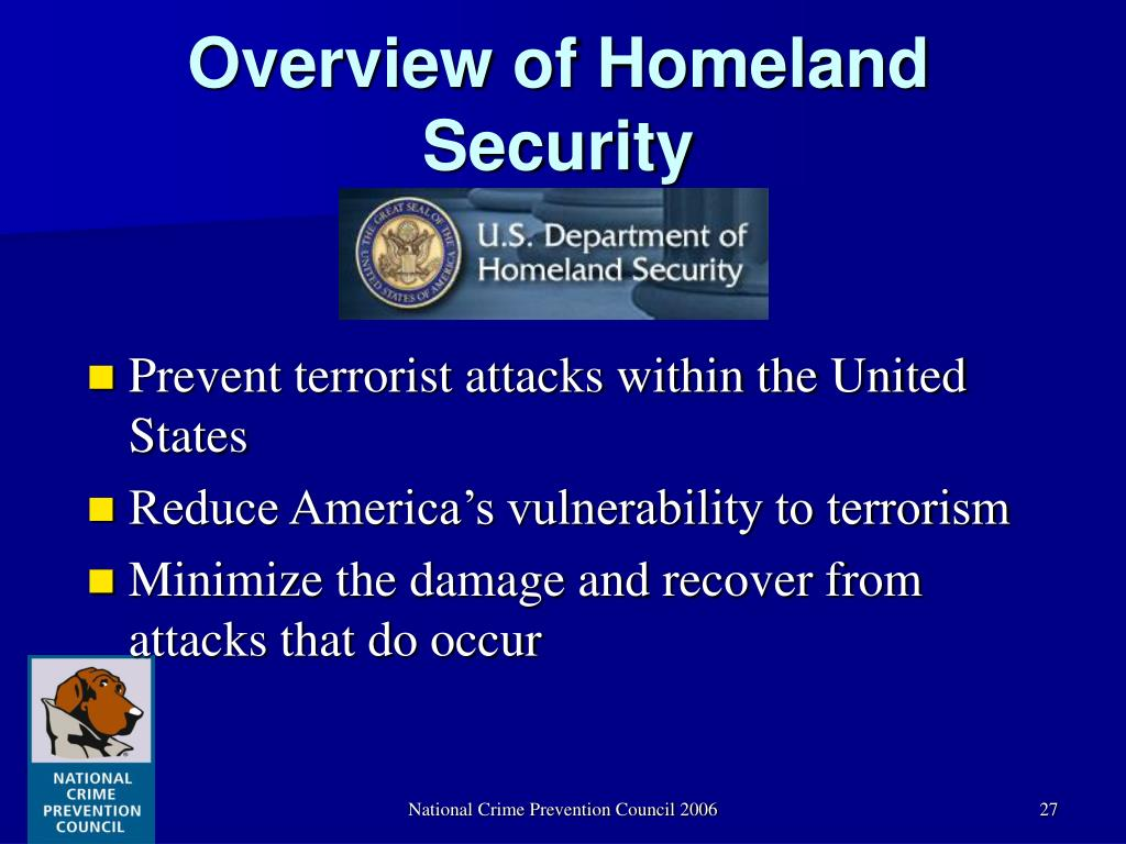 Overview of Homeland Security