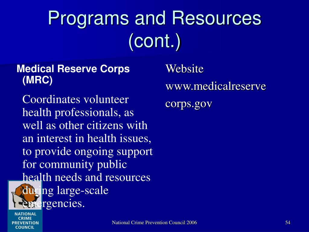 Medical Reserve Corps (MRC)