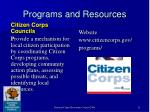 programs and resources