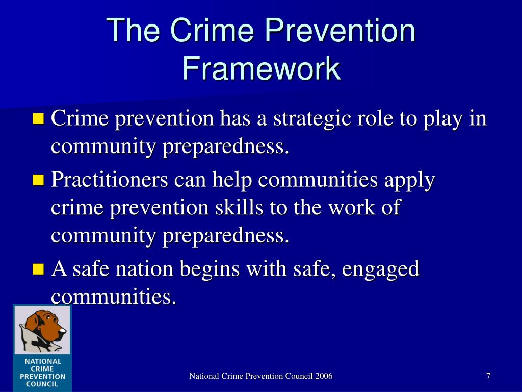The Crime Prevention Framework