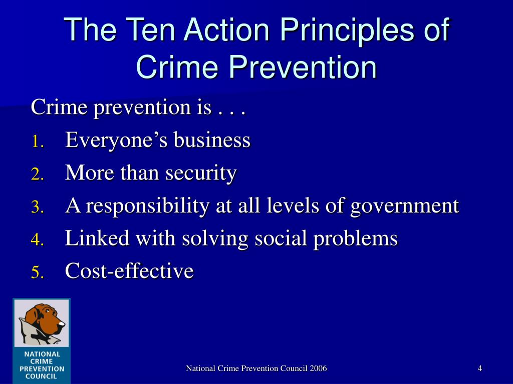 The Ten Action Principles of Crime Prevention