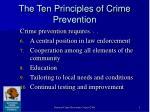 the ten principles of crime prevention
