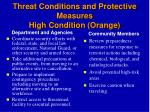 threat conditions and protective measures high condition orange