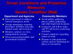 threat conditions and protective measures severe condition red